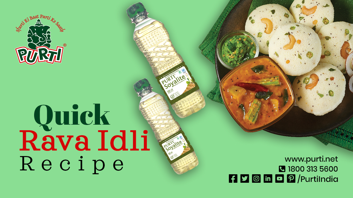 Quick Rava Idli Recipe